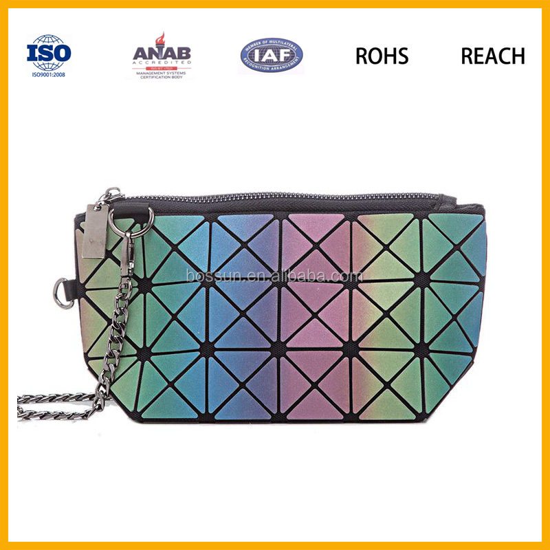 South Korean Style Colorful PU Leather Cosmetic Makeup Bag Pouch Coin Pouch Key Pouch