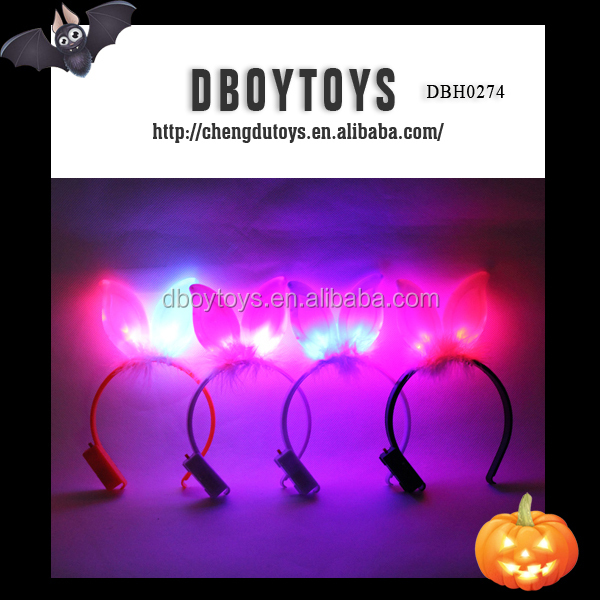 New party decoration flashing rabbit ears headband