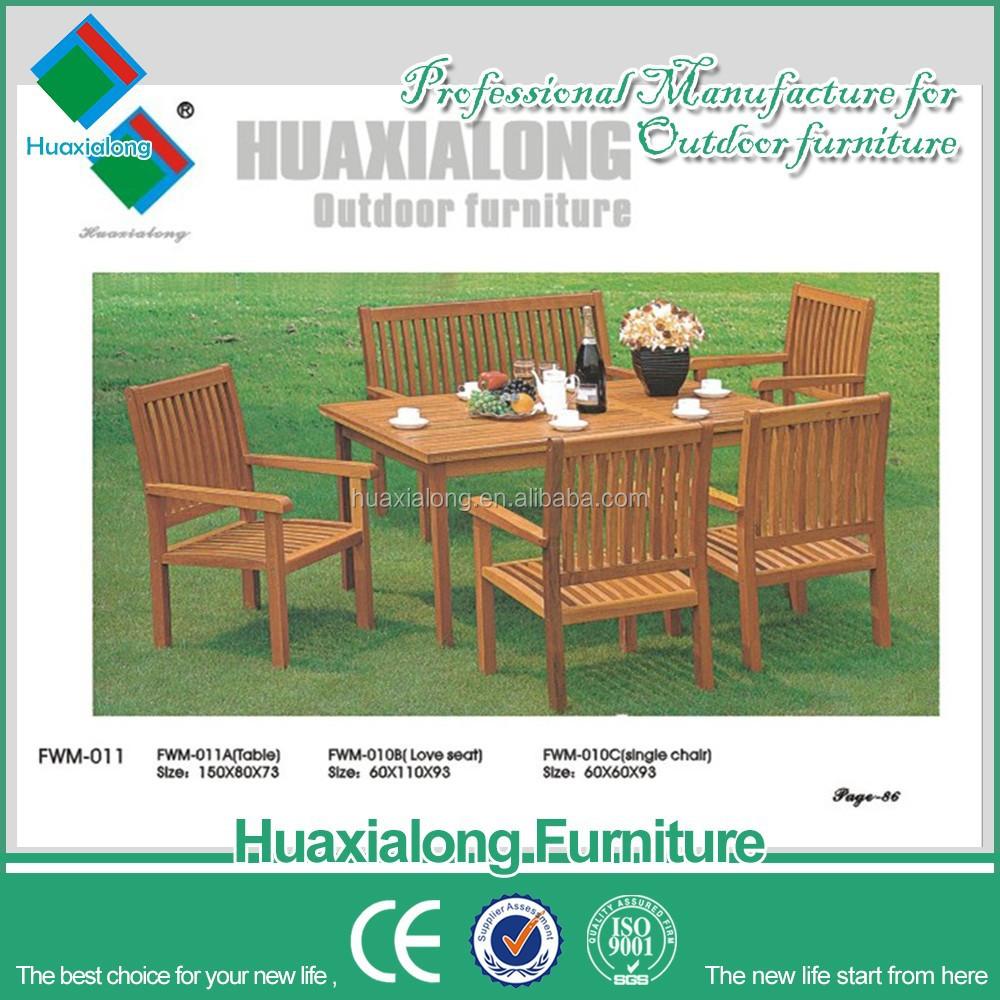2015 6 plazas jard n al aire libre muebles de madera for Jardin al aire libre de madera deco