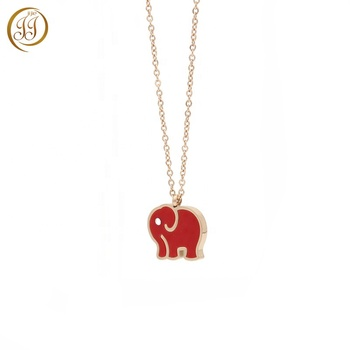 Cheap Girls Jewellery Cheap Cute Simple Rose Gold Elephant Necklace In Stainless Steel