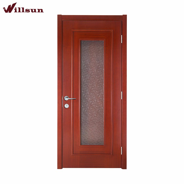 China supplier wood and etched glass shower doors