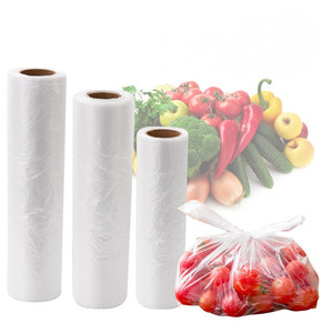 ok compost home certified custom wholesale PLA based biodegradable compostable vegetable fruit plastic produce bag on roll