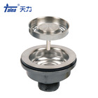 Factory wholesale SUS304 decorative sink strainers basket stopper drainer