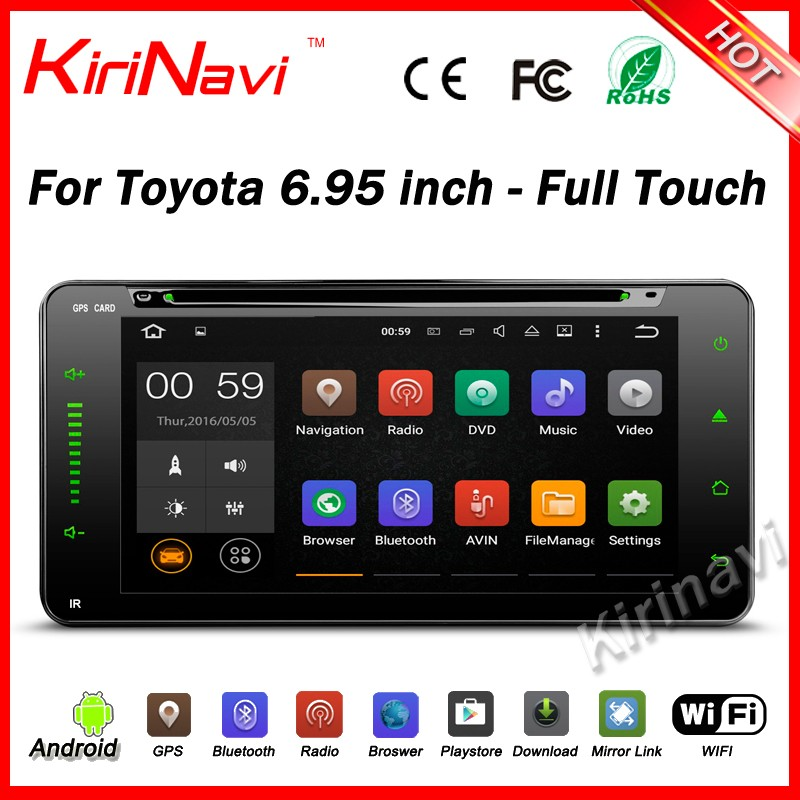 Kirinavi WC-TU6957 <strong>Android</strong> 5.1 Car radio for <strong>Toyota</strong> <strong>universal</strong> 6.95 inch full touch with dvd gps navi multimedia system wifi 3g