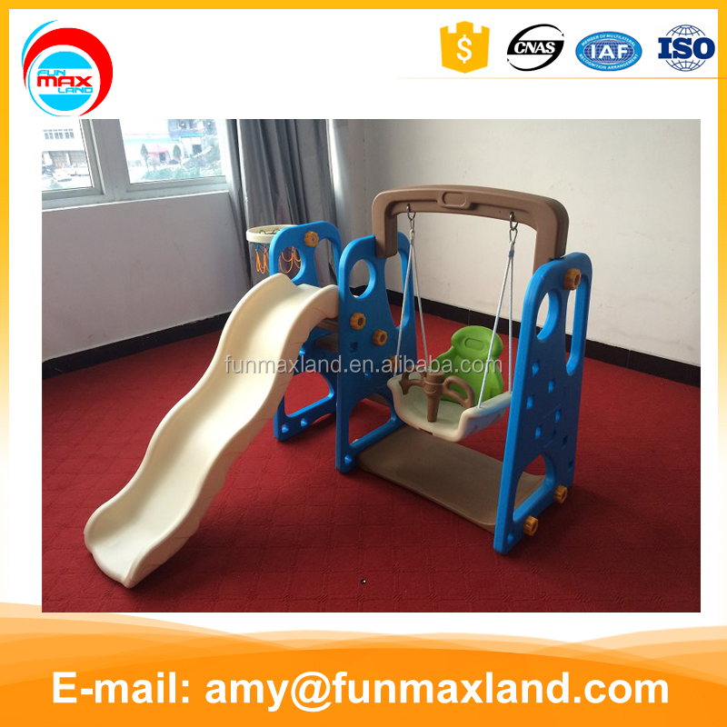new design indoor playground toys/swing and slide combination
