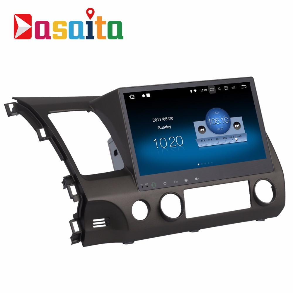 Dasaita wholesale android 7.1 car dvd player GPS navigation stereo for Honda Civic 2009-2011 Quad core with Full HDMI Output