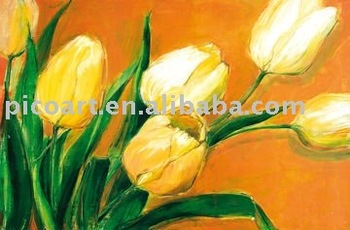 Quadri Su Tela Pittura Ad Olio Di Fiori Tulipani - Buy Product on ...