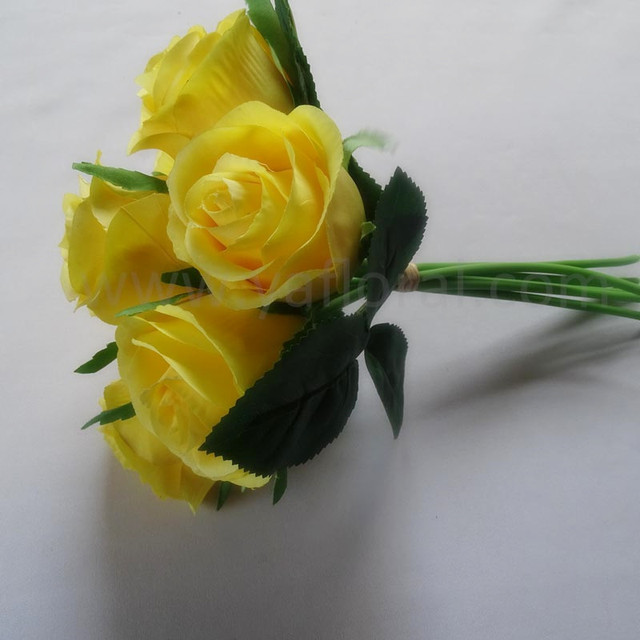 Buy cheap china artificial flowers london products find china yellow silk flower real touch roses bouquet artificial flowers london for decoration mightylinksfo