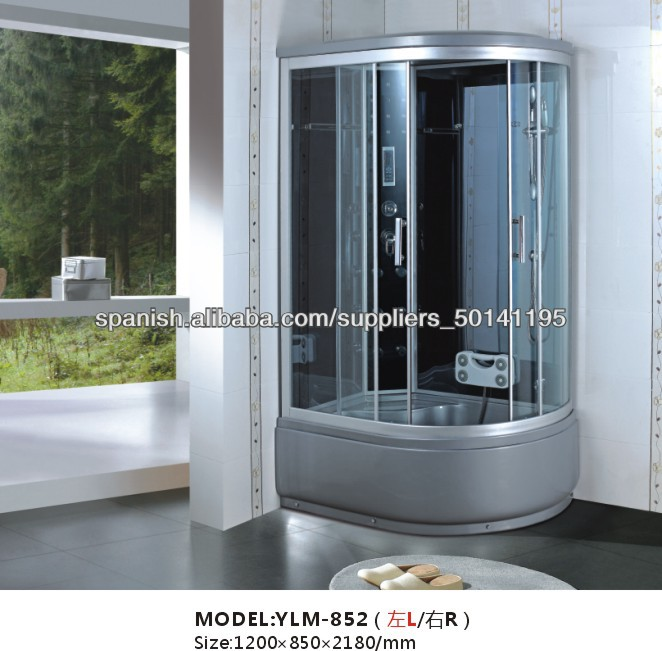 gris moda sauna ducha cabina de ducha de vidrio fibra de vidrio mixer espacio para duchas