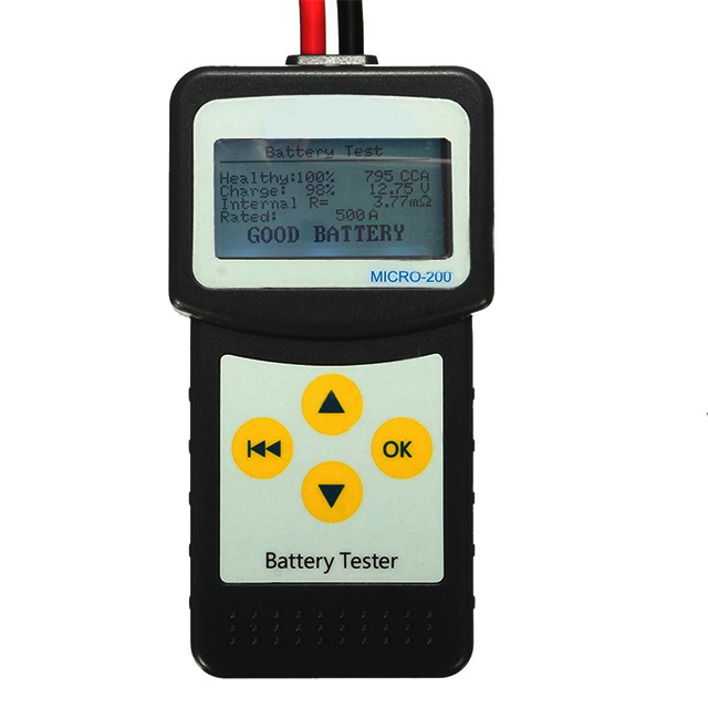 Original 12V Car Battery Tester Micro-200 High Battery Capacity Tester for Gel Flood
