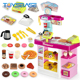 Super Western Restaurant With Cash Register Play Table Baby Toys Kitchen Set