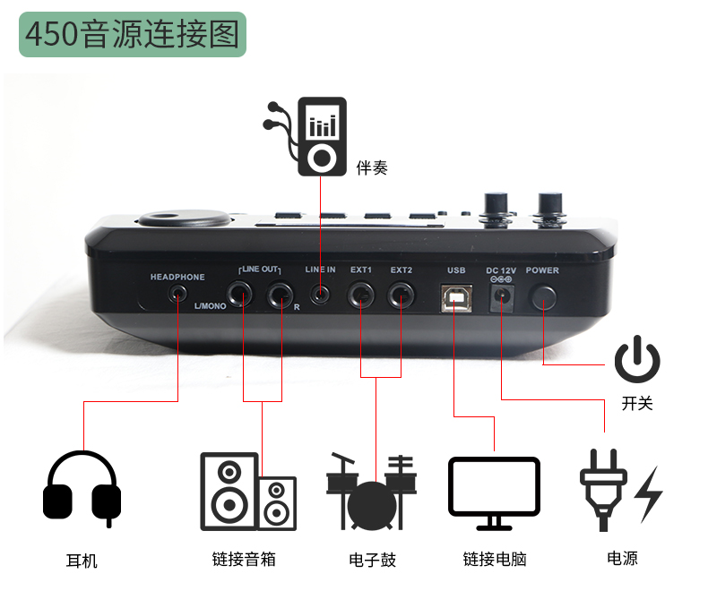 HXM XD450 Electronic Drum Sound Module