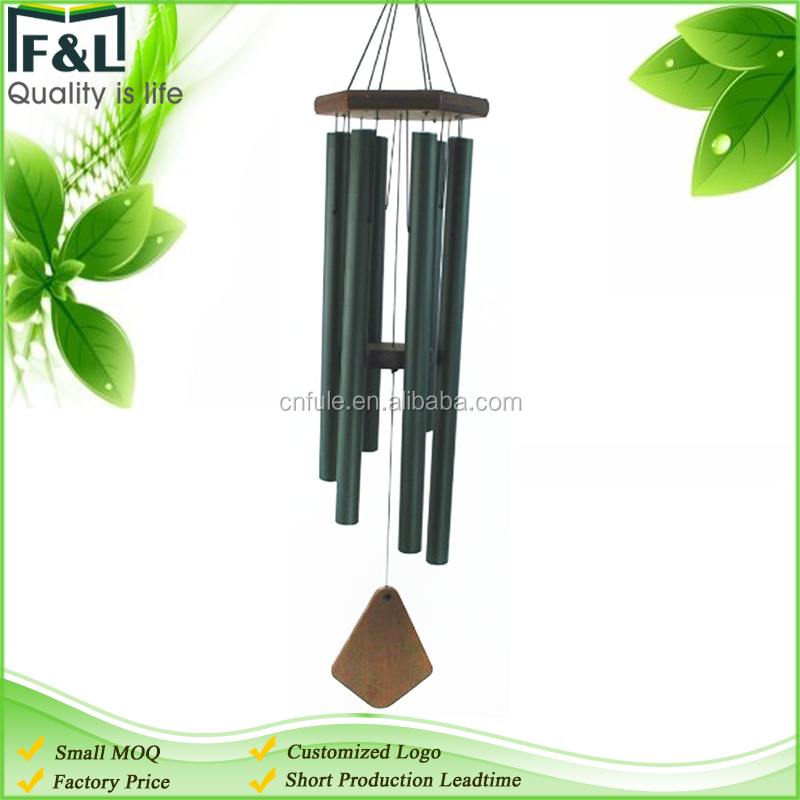custom logo home decoration used and wood material tubes tuned wind chime kits
