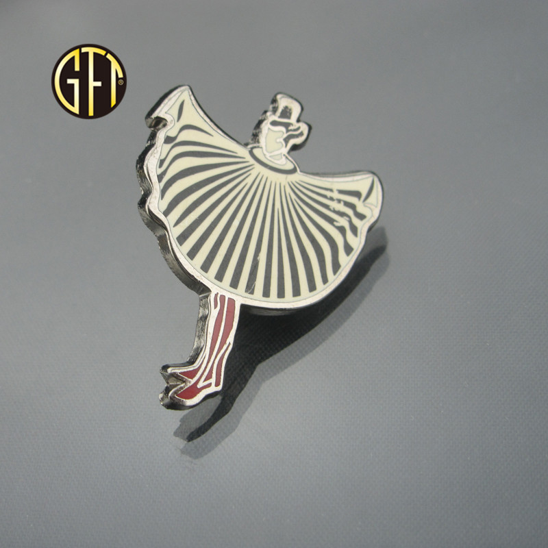 New trend in 2018 Custom Luxury Silver metal Magician enamel lapel pin Manufacturer China Gift item