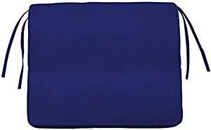 "Box edge Rectangular Outdoor Chair Cushion, 3""Hx18.5""Wx15.5""D, BLUE SUNBRELLA"