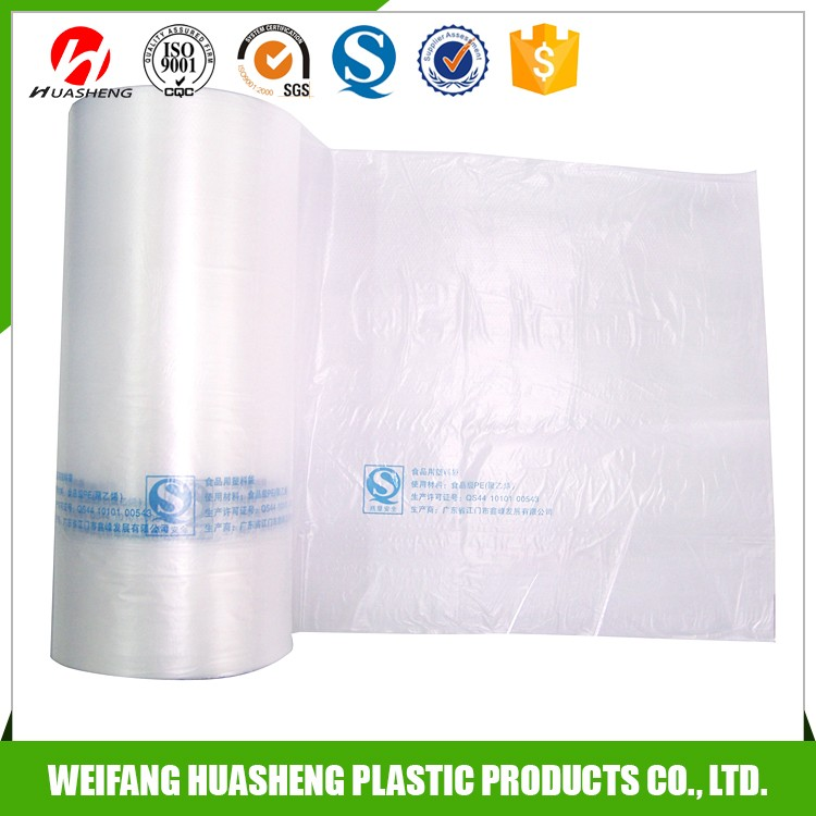 Low Price degradable flat plastic food bag on roll