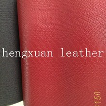 wine red snake skin synthetic leather for decoration