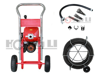 D-200-1A electric spring drain cleaner with mobile wheel,CE