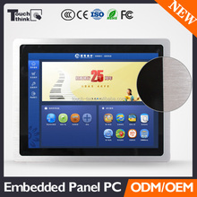 "17"" LCD Industrial Panel PC wall mount touch computer pc"