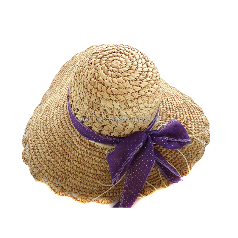 High quality ladies straw hats wholesale