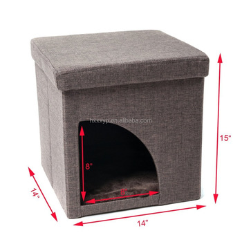 Swell Soft Portable Ottoman Opening Cat Play Cube Bed Brown Black Buy Round Storage Ottoman Folding Storage Ottoman Kids Storage Ottoman Product On Gmtry Best Dining Table And Chair Ideas Images Gmtryco