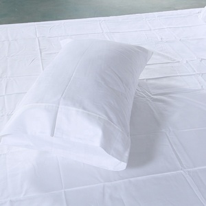Factory in china bed pillow case cover 100% cotton white