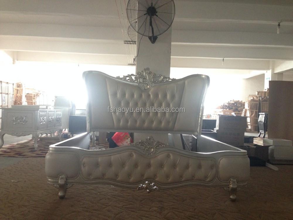 New classic muebles de dormitorio, color oro cama king-Camas ...