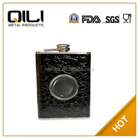 New type stainless steel usa popular leopard hip flask