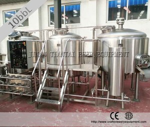 10BBL steam two vessel used brewery equipment germany for sale