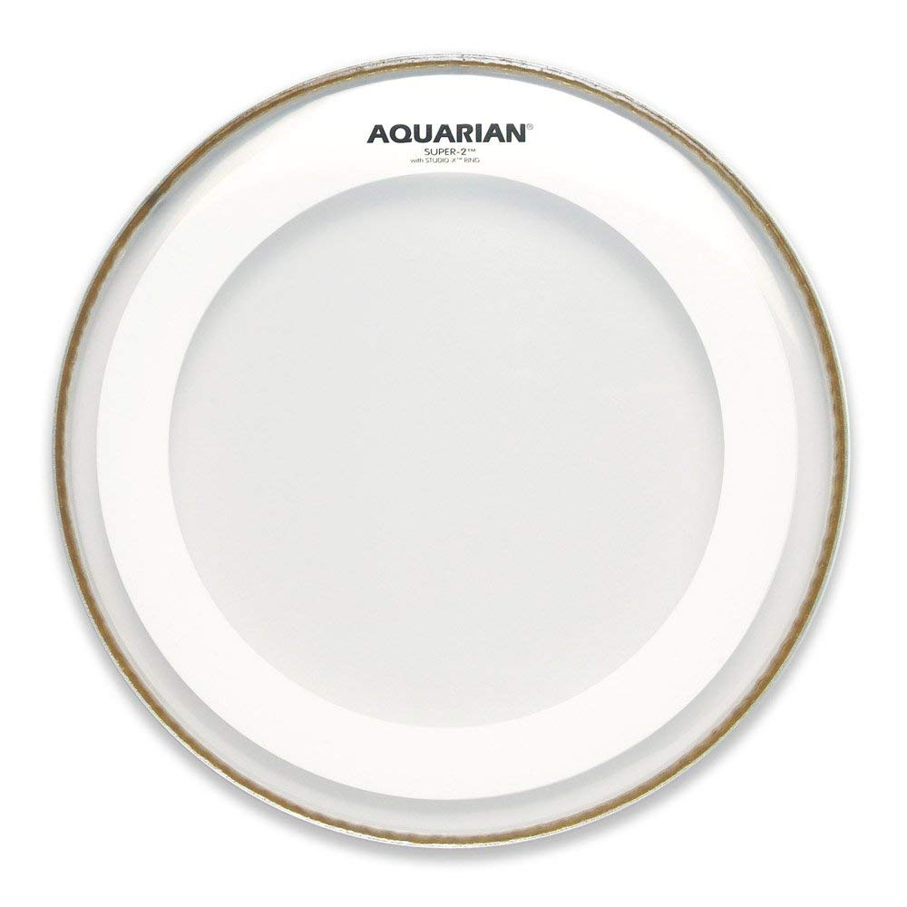 Aquarian Drumheads MRS2-10 Super-2 Clear with Studio-X Ring 10-inch Tom Tom Drum Head