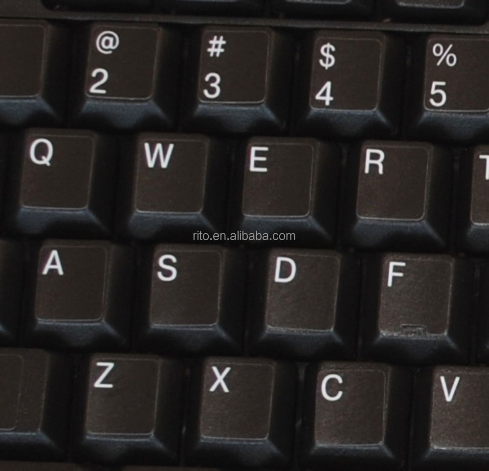 Glowing Reflective Fluorescent English US Letters Keyboard Sticker New orange