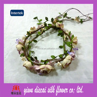 Factory supply wholesale hair floral garland