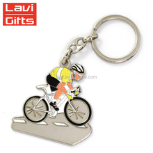 Wholesale Custom Metal Souvenir Bike Keychain Key Ring