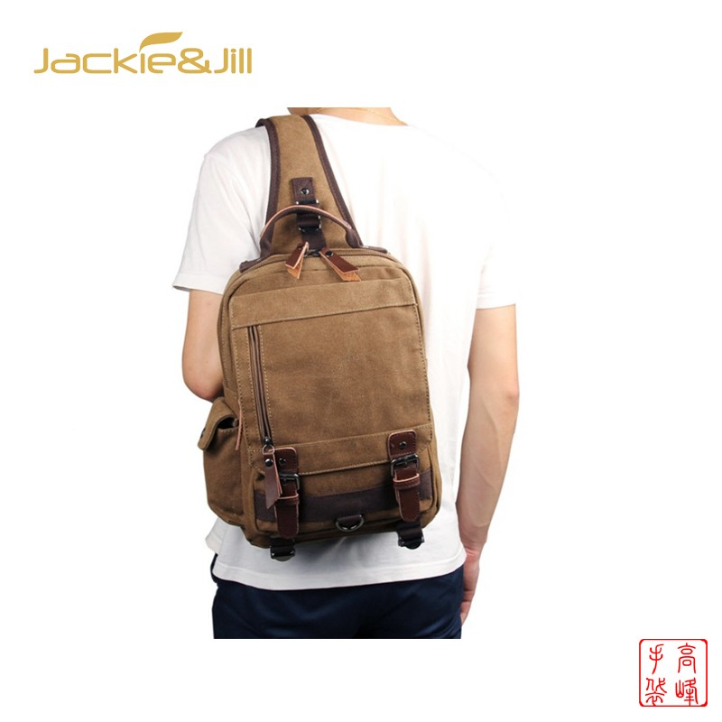 mochilas Another design Single shoulder Men Canvas Crossbody Backpacks Retro style business school travel laptop fashion boys backpack