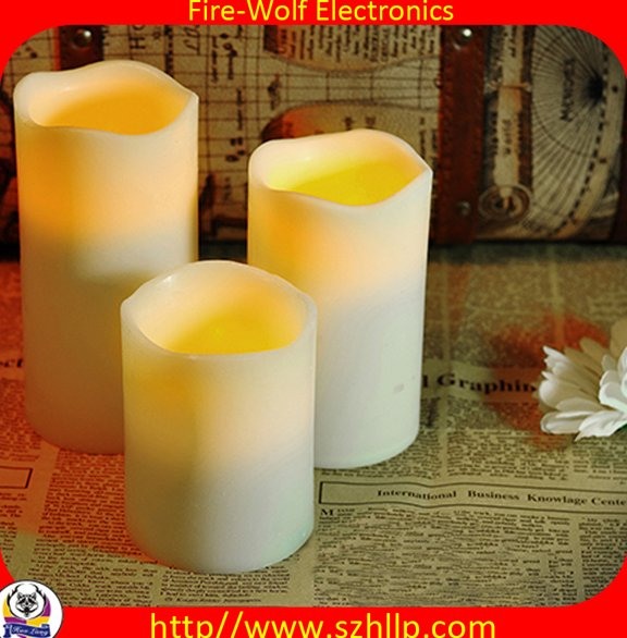 Christmas ornaments Cheap customized high quality fashion Raleigh led candle wholesale