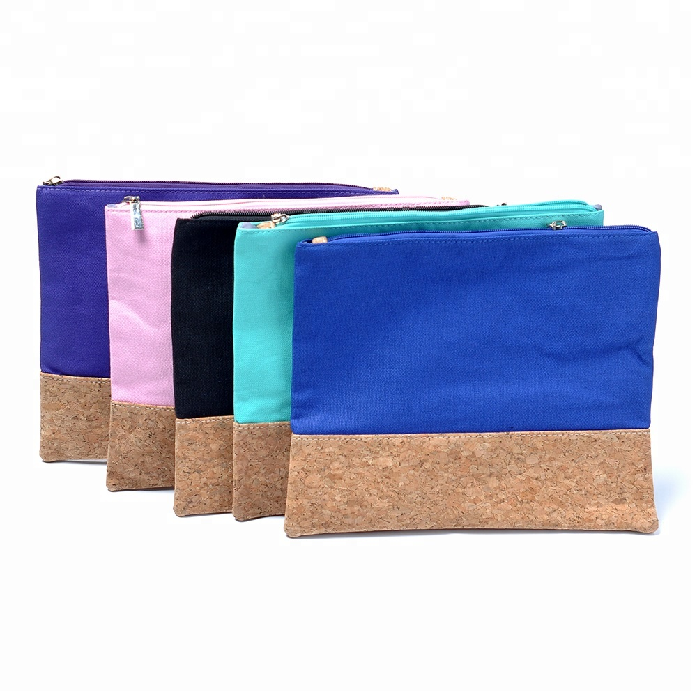 Gratis Monster Custom Mode Katoen Rits Canvas Make-Up Tas Organische Reizen Hot Populaire Beauty Cosmetische Pouch Tassen Fabrikanten