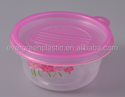Disposable food storage container 816A with printing