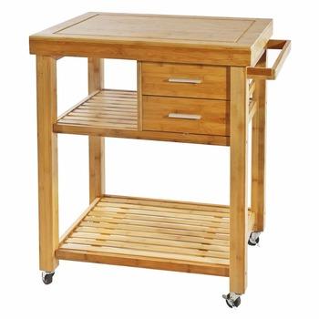 Bamboo Kitchen Island Cart Trolley Cabinet Towel Rack Drawer Shelves Buy Bamboo Kitchen Cart Towel Rack Bamboo Kitchen Trolley Product On
