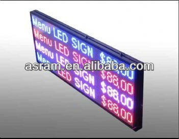 Outdoor Multi-line Scrolling Message/Number/Text/Logo white color outdoor led sign