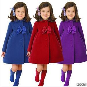 79d8de33a533a Christmas winter new design online wholesale clothing store long flower  side bowknot decoration fancy girl coat