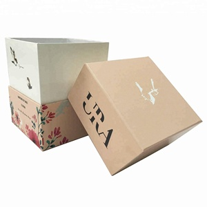 Customize hard cardboard recyclable candle gift boxes and craft industrial use wholesale candle box packaging for candle