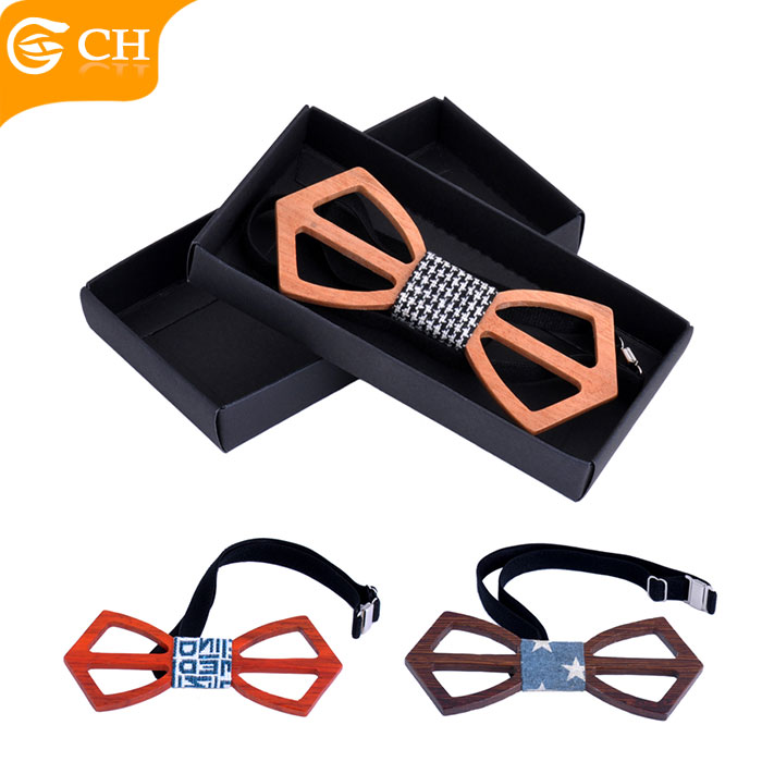 China Suppliers Design Your Own Wood Bowtie Funny Gifts Wooden Bow Ties for Men