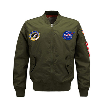 Lightweight American College Jacket,Nasa Men's Usa Flag Nasa Flight Jacket Custom Wholesale
