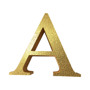 Fresstanding brass numbers and lettering the 3d gold letter with gold foil finish