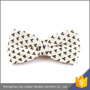 New Arrival Personalized polyester knit self tie bowtie for Young Men