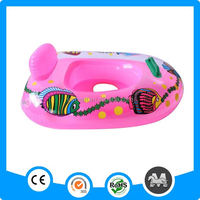 Hot water products transparent pink inflatable baby swim boat