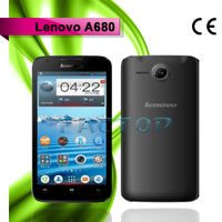 lenovo a680 dual sim card android 4.2 with CE 5.0 inch big screen mobile phone chinese copy