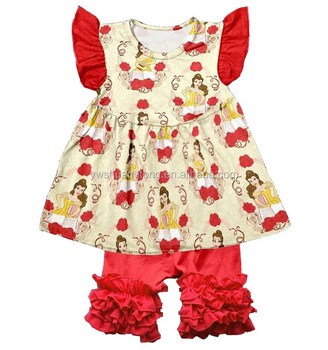 fashion new arrival cartoon animal printing baby clothes wholesale children boutique clothing popular