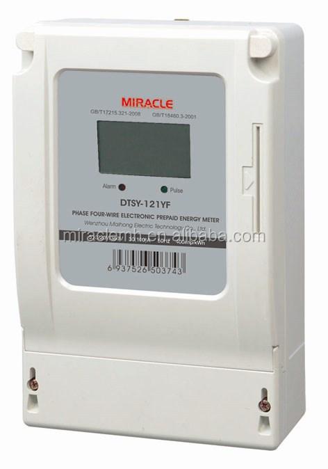 Remote Control 3 Phase Ic Card Watt Meter Prepaid