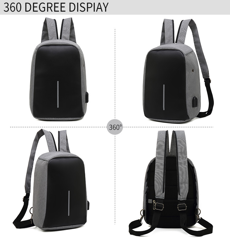 New trend men and women fashion sling backpack waterproof nylon material crossbody bag wholesale customizable logo